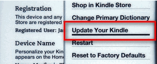 update your kindle