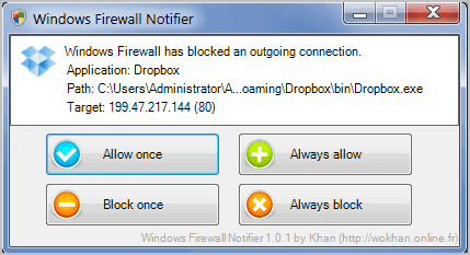 windows firewall notifier