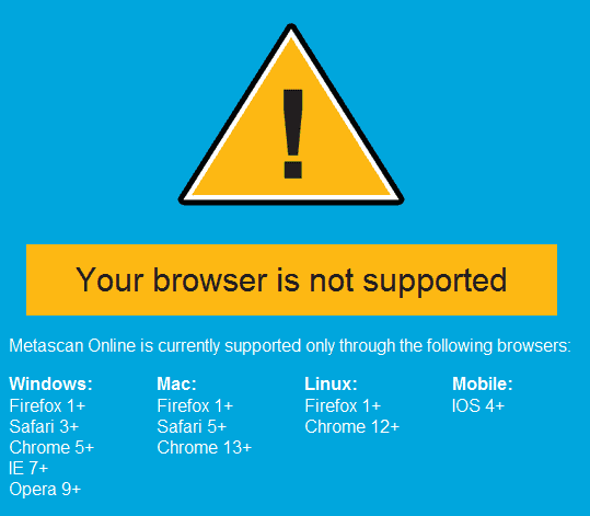 browser not supported
