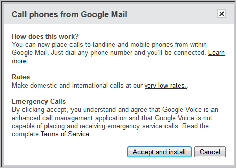 call phones from google mail