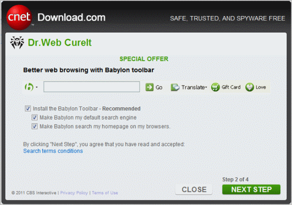 cnet download.com web installer adware