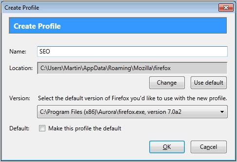 create firefox profile