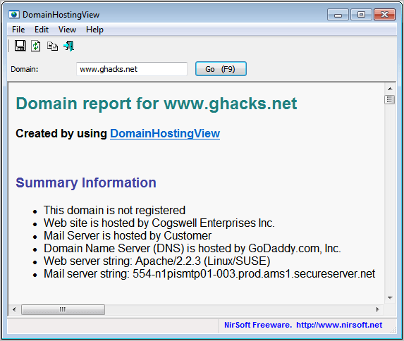 domain hosting view