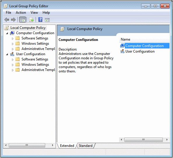 group policy editor windows 7
