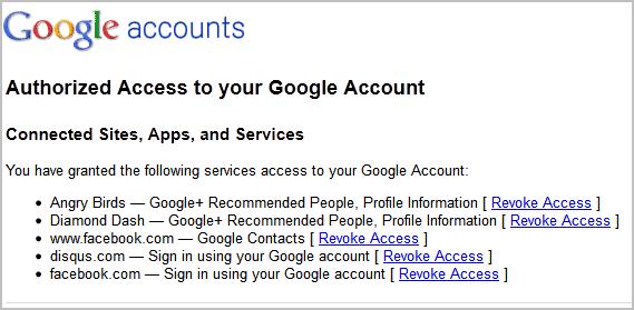 revoke google+ games permissions