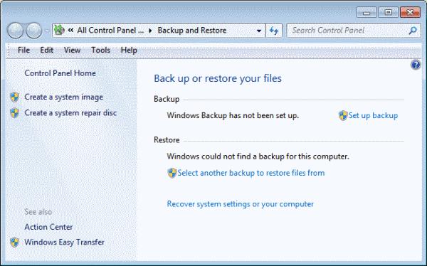 windows backup restore