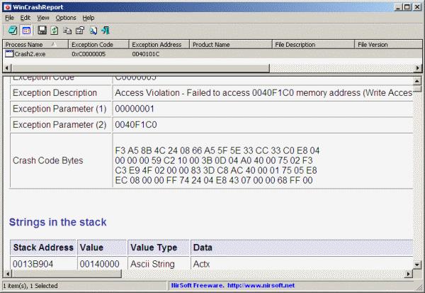windows error report