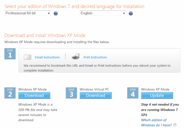 How to Install XP Mode on Windows 7 without Virtualization