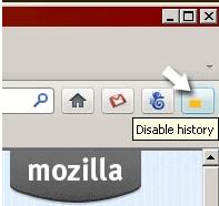 disable history firefox