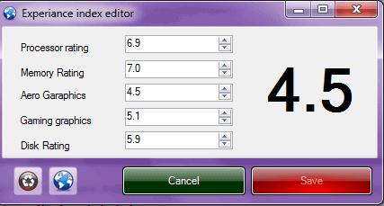 windows 7 ratings changer