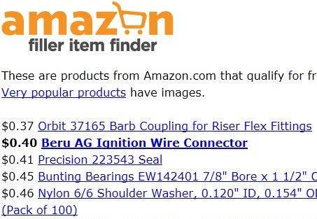 amazon filler items finder