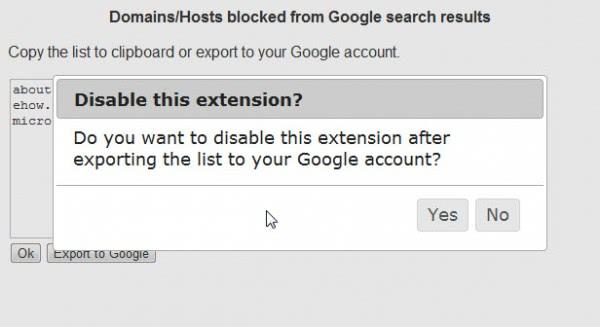 google blocklist