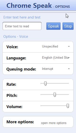 google chrome speak