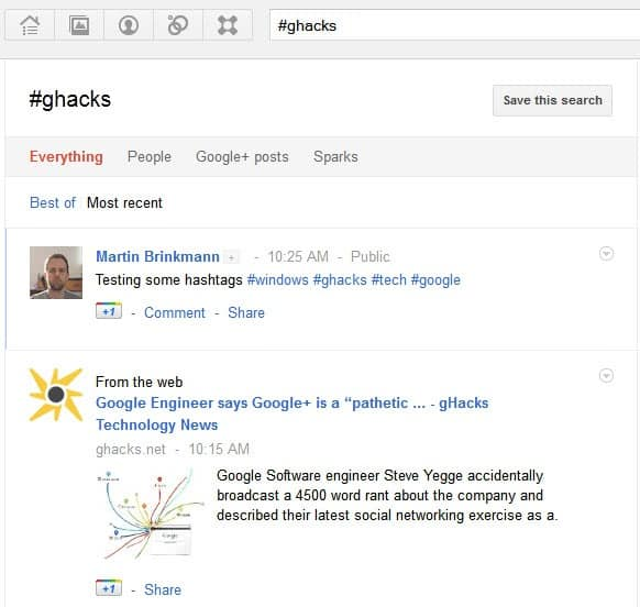 Google+ Rolls Out Hashtag and Real-time Search Support ...