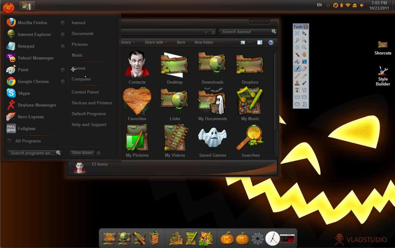 windows halloween theme - Windows 7 Halloween Theme