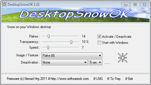 desktop snow ok