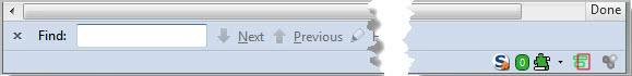 firefox default add-on bar