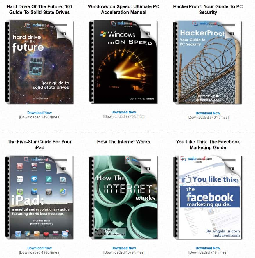 MakeUseOf Guides Free Downloadable Tech Guides gHacks Tech News – Free Word Cover Page