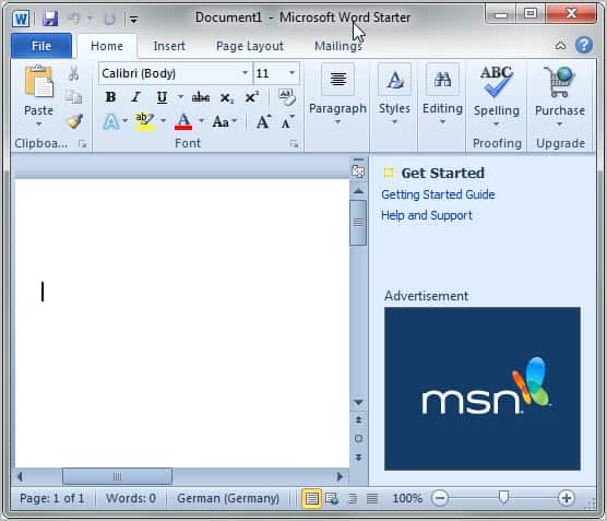 download microsoft office starter 2010