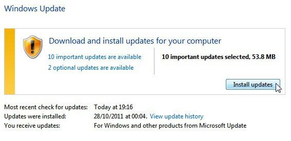 windows updates