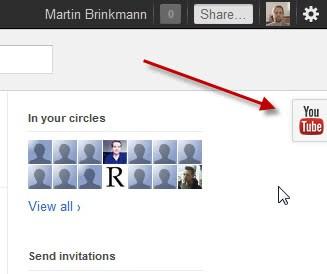 youtube button google plus