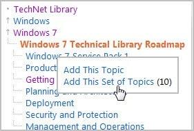 add topic sets