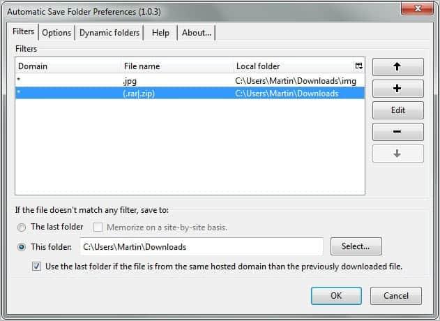 automatic save folder