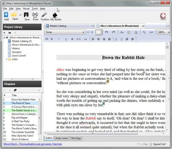 celtx novel writing