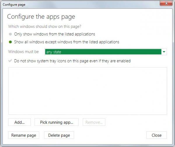 configure pages
