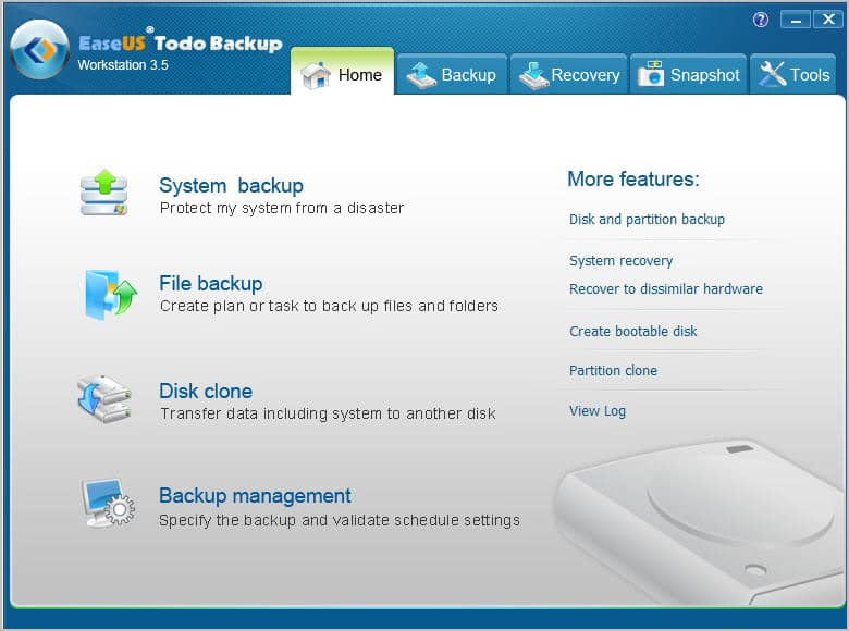 Easeus todo backup free screenshots.