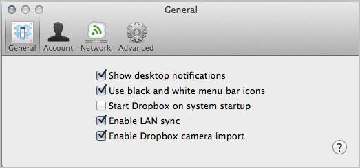 enable dropbox photo import