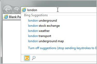 internet explorer search engines