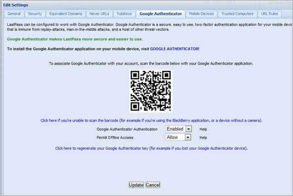 lastpass google authenticator