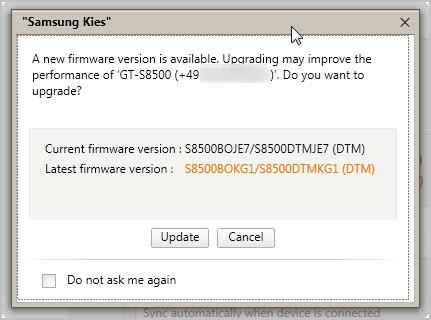 samsung kies firmware update