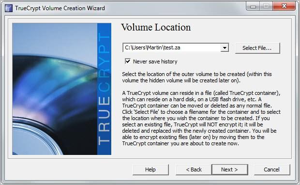 create encrypted file