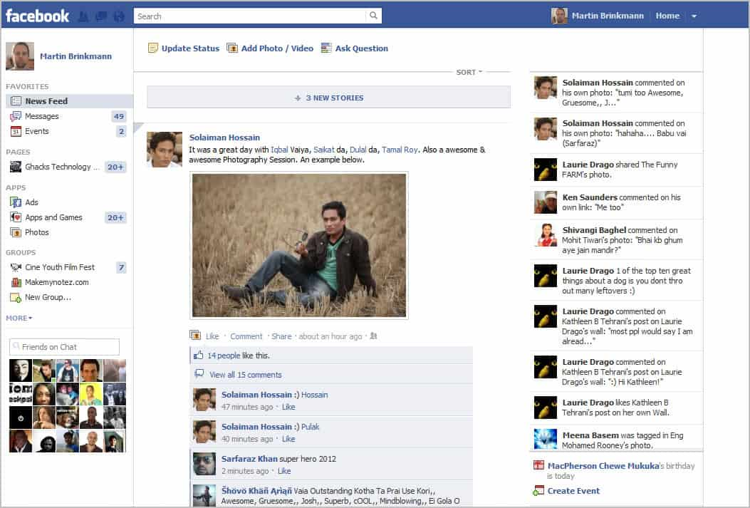 The disappearance of the timeline view for my Facebook ...  |Blank Facebook Timeline Page
