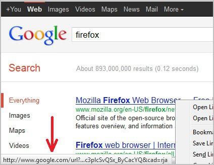 google search links