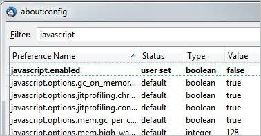 javascript enabled false