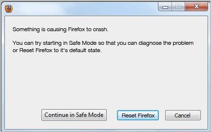 reset firefox