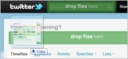 twitter drag drop upload