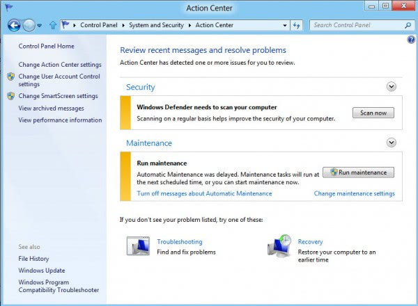 change smartscreen settings