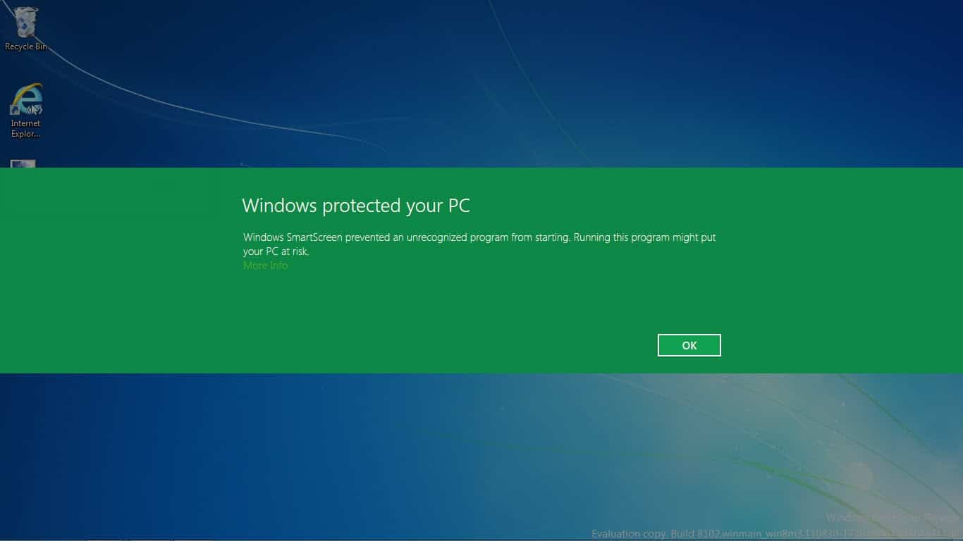 How to bypass smartscreen filter windows protected your for Windows for pc