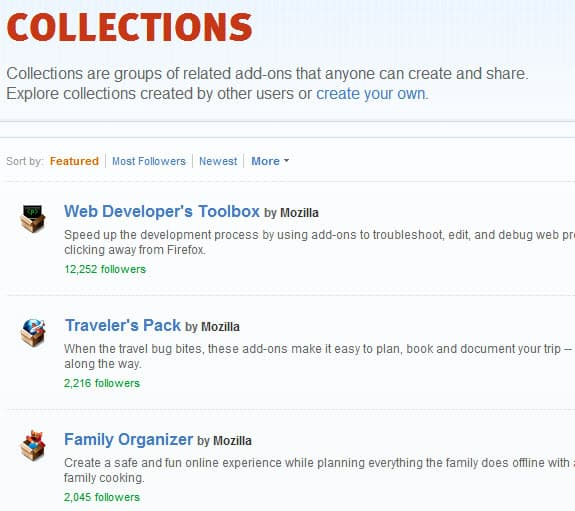 firefox collections