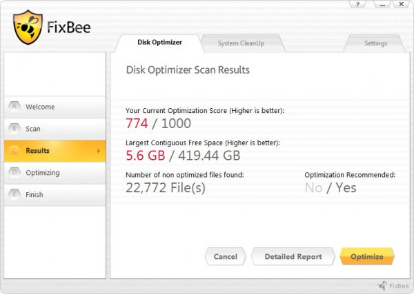 hard drive fragmentation