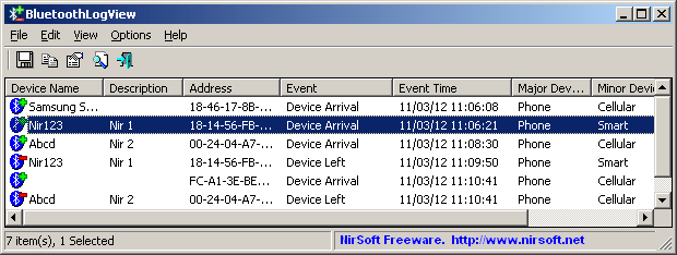 monitor bluetooth connections