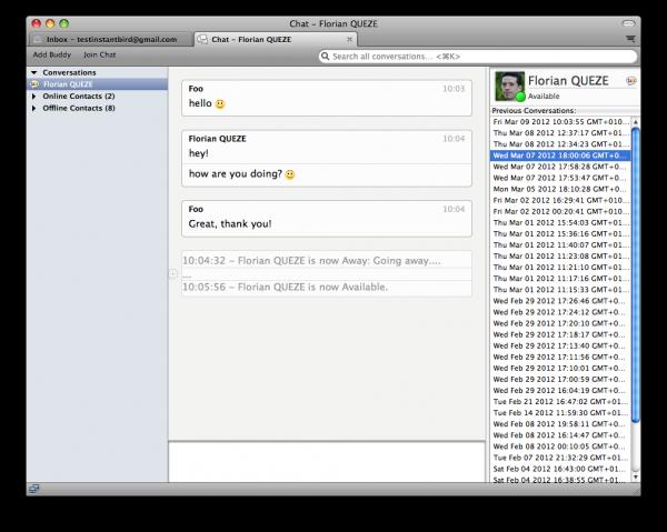 thunderbird instant messaging