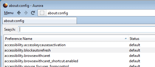 about config