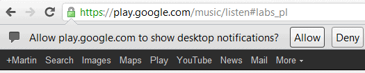 google play desktop notifications