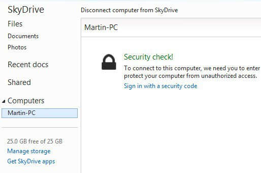 skydrive security check