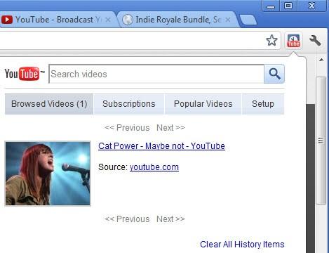 youtube video history